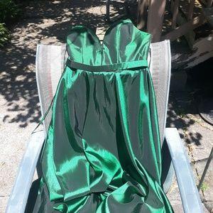 Emerald green Jovani formal gown